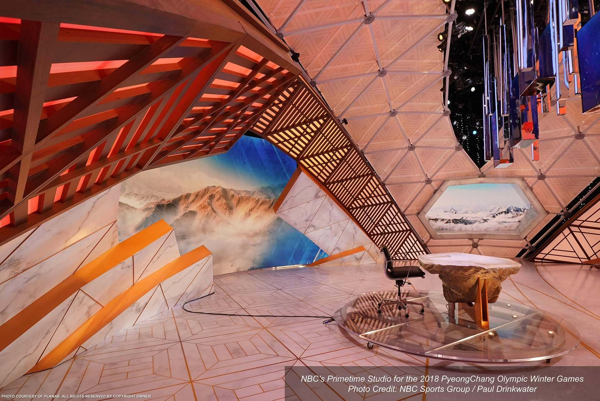 NBC 2018 Winter Olympics Studio Image